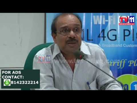 BSNL LAUNCH 4G PLUS  SERVICES AT HYDERABAD   TV11 NEWS 25TH APR 2017