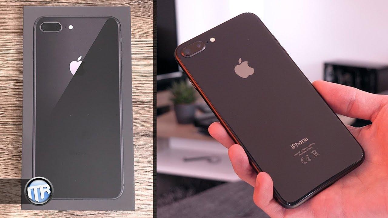 apple iphone 8 plus unboxing ersteindruck kurzvergleich mit iphone 7 plus youtube. Black Bedroom Furniture Sets. Home Design Ideas