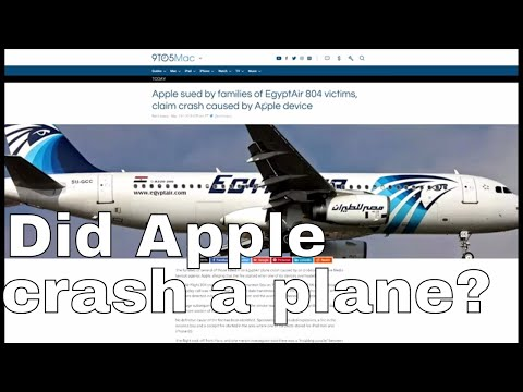 Can we blame Apple for crashing an airplane?