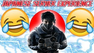 *HILARIOUS* Japanese Server EXPERIENCE | Rainbow Six Siege