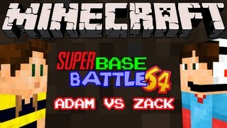 Game | Minecraft Super Base Battle 64 Bow and Arrow Fight! Adam Vs Zack | Minecraft Super Base Battle 64 Bow and Arrow Fight! Adam Vs Zack