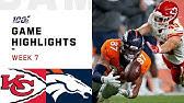 Chiefs vs. Broncos Week 7 Highlights | NFL 2019