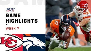 Chiefs vs. Broncos Week 7 Highlights | NFL 2019