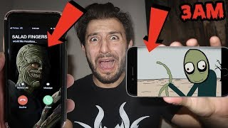 DONT WATCH SALAD FINGERS VIDEOS AT 3AM! *THIS IS WHY* | SALAD FINGERS CALLED ME AT 3AM