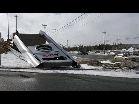 Wind whips Newfoundland, tears off roofs and siding