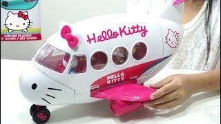 Mainan Anak Pesawat Pesawatan 💖 AIRLINE PLAYSET HELLO KITTY Toys Review 💖 Let's Play Jessica