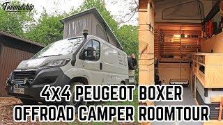 Der schönste Offroad Campervan den ihr jemals gesehen habt? Roomtour 4x4 Peugeot Boxer Vanconversion
