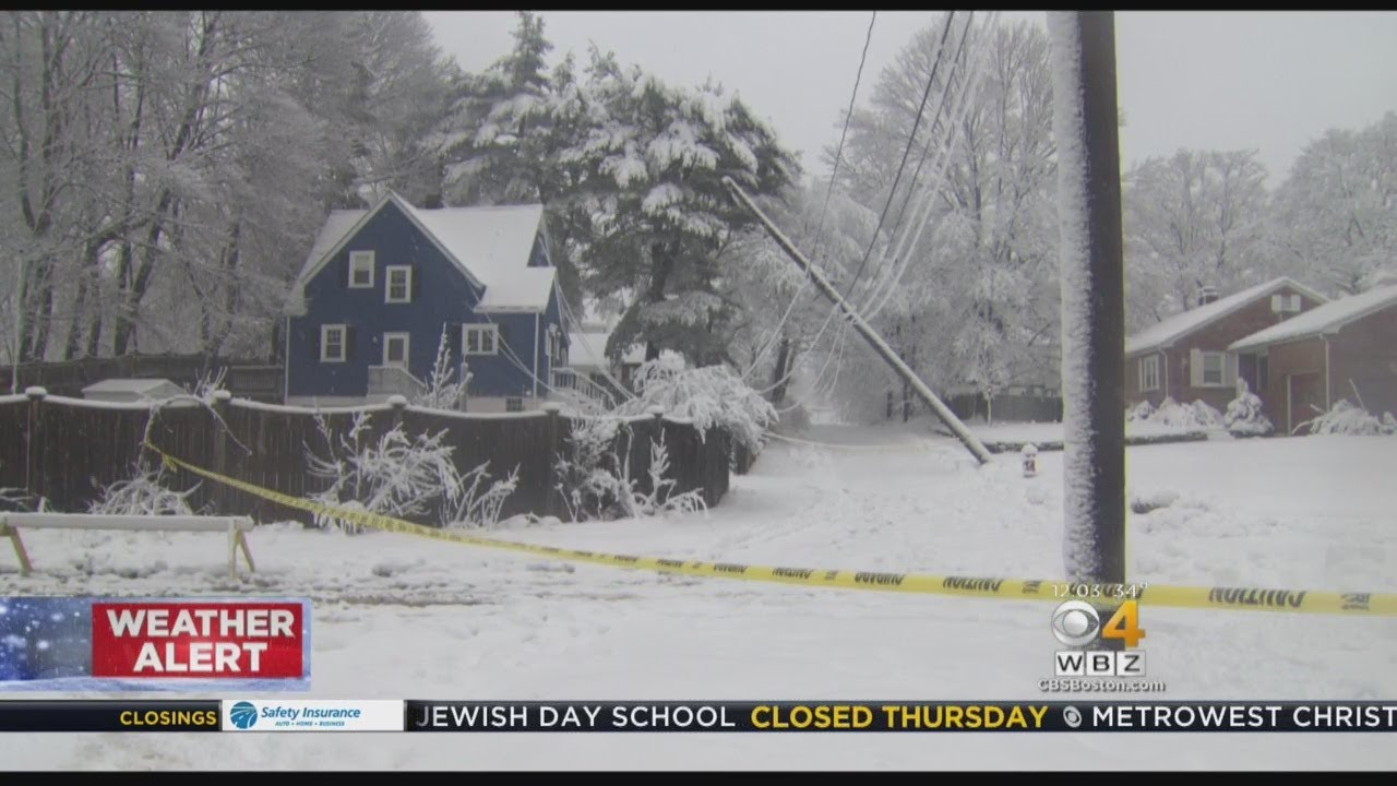 Power Restoration In Mass. Could Take Days After Overnight Storm