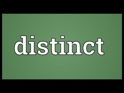 Distinct Meaning