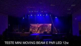 Teste Dos Mini Moving Beam e Par Led 12w Comprado Pelo Mercado Livre