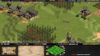 Age of empires II - GAME 1 - Njord21 vs WolfSilver- BATTLE POUR LE TITRE