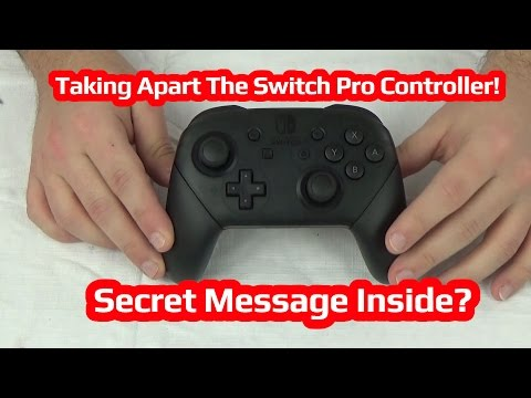 Taking Apart The Nintendo Switch Pro Controller! Secret Message Inside?