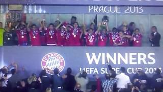 Premiazione---Bayern Munchen-Chelsea---supercoppa europea Praga 2013
