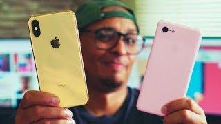 QUE SURRA HEIN IPHONE!! Pixel 3 XL vs Iphone XS, Quem tira melhores fotos