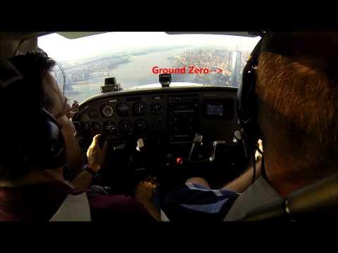 Manhattan flight - cockpit view!
