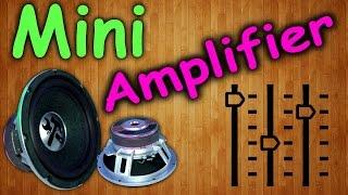 Как сделать усилитель звука своими руками / How to make a sound intensifier(В сегодняшнем видео я вам покажу замечательную идею о том как можно сделать простейший мини усилитель звук..., 2015-01-15T14:17:27.000Z)