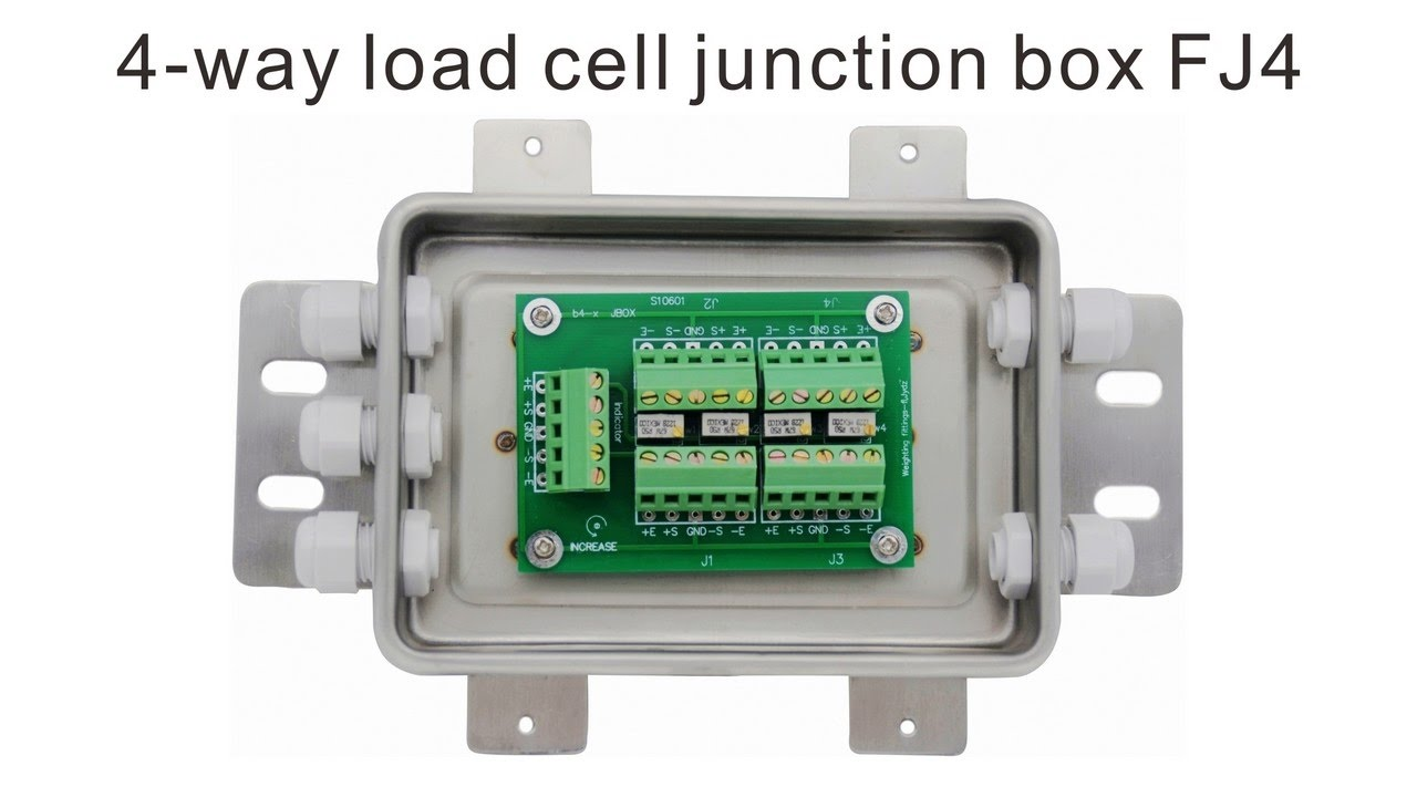 hight resolution of load cell junction box signal trimming for up to 4 load cells
