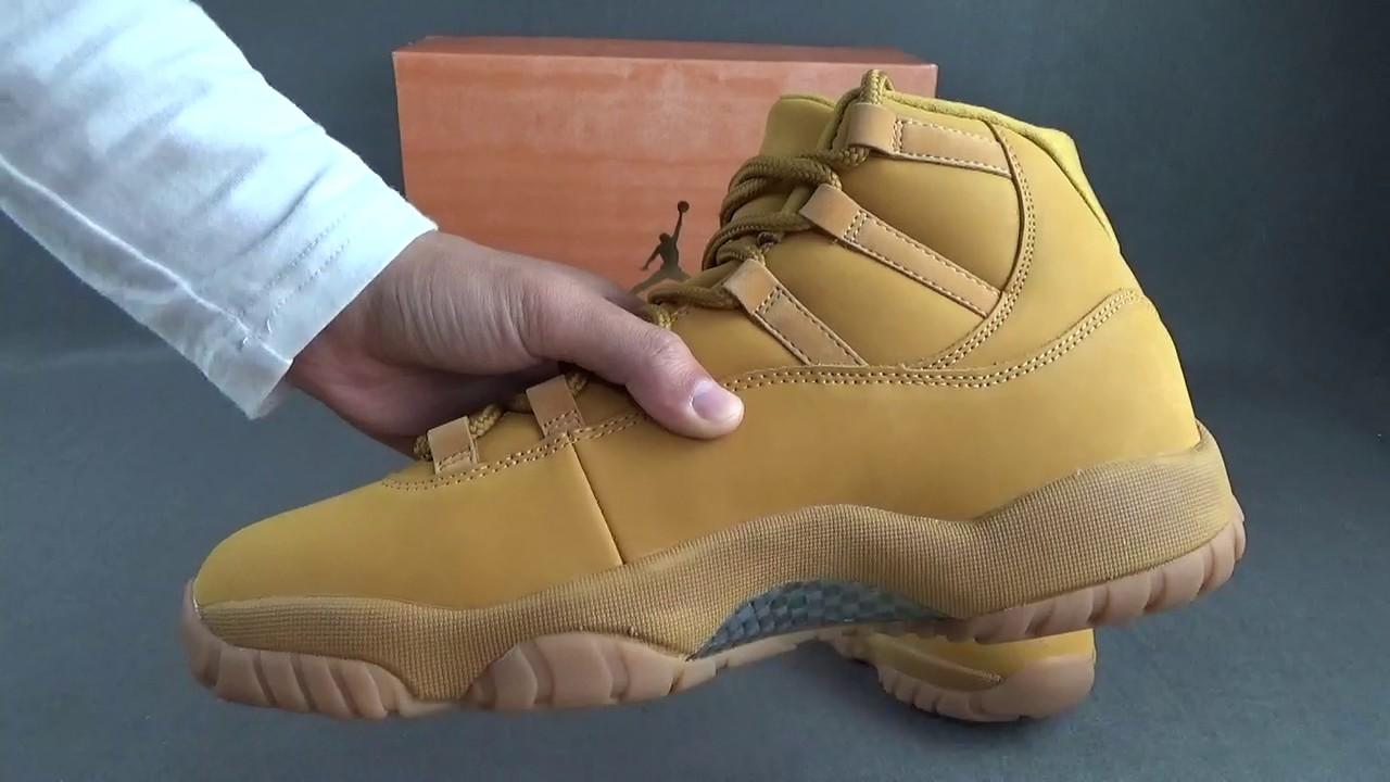Air Jordan 11 Retro Wheat - YouTube