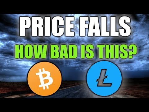 BITCOIN Price FALLS As LITECOIN Follows