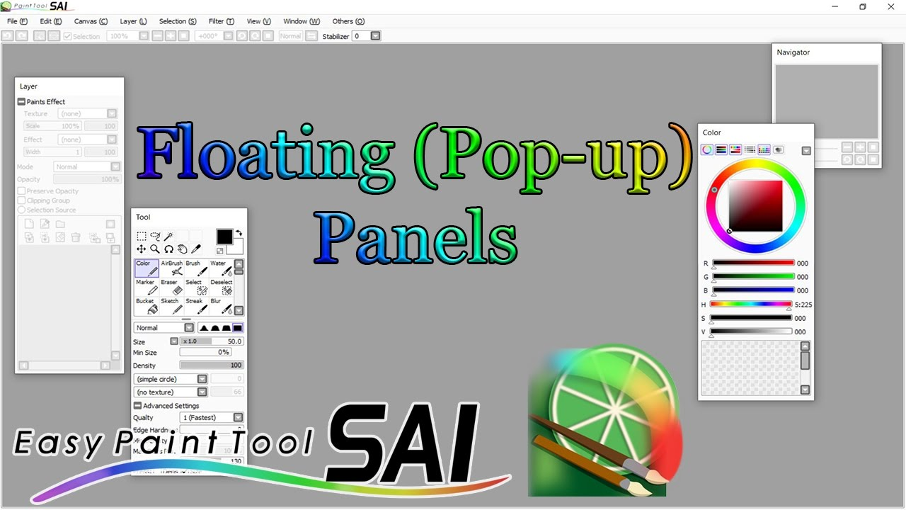 How To Obtain Floating Panels Paint Tool Sai Youtube