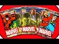 HEROES MARVEL AVENGERS BOOSTER OPENING ★ Trading Cards Hulk, Thor, Spiderman, Black Widow