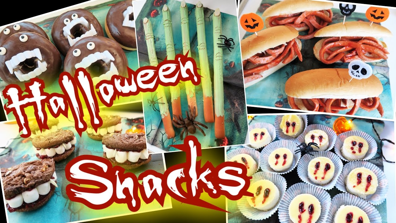 5 einfache halloween party snacks gruselig lecker fingerfood youtube. Black Bedroom Furniture Sets. Home Design Ideas
