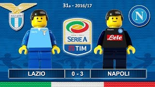 LAZIO NAPOLI 0-3 • Serie A 2016/17 ( Film Lego Calcio ) Goal Highlights 09/04/2017