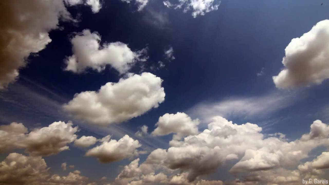 time lapse with amazing clouds on deep blue sky symphony no 5 by