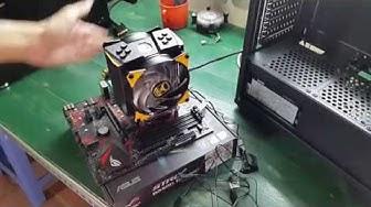 Lắp tản nhiệt khí Cooler Master MASTERAIR MA410M TUF Gaming Edition
