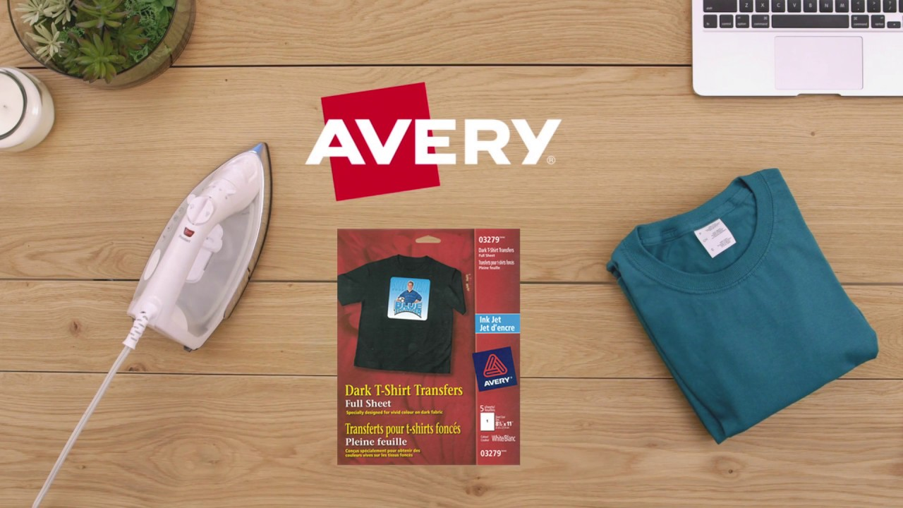 photo relating to Avery Printable Vinyl known as How In the direction of Retain the services of Avery Darkish Material Transfers