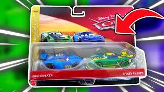 Disney Pixar Cars 3 Eric Braker & Spikey Fillup Diecast Review (Double Pack)
