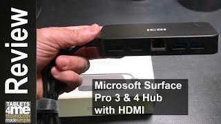 Microsoft Surface Pro 3 & 4: Dock with Audio, DisplayPort & HDMI + RJ45 Gigabit Ethernet Adapter