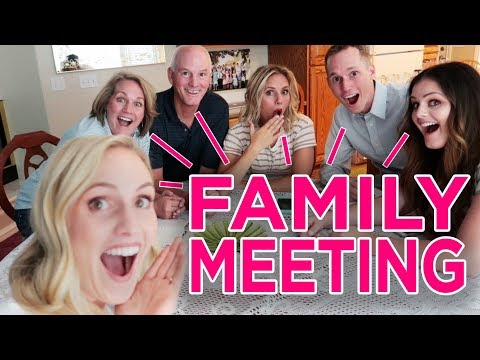 IMPORTANT FAMILY MEETING! Announcing A Special Project