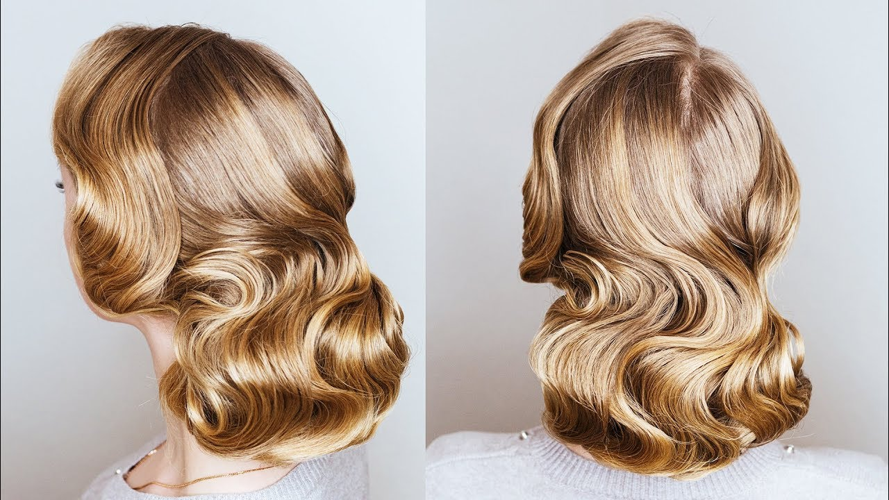 How To Make Finger Wave With A Flat Iron Finger Wave Updo For Long Thin Hair On New Year Eve