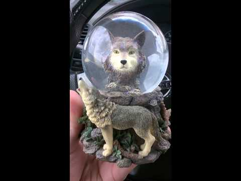 """Free As The Wind"" Wolf 🐺 Globe by Robert Rodriguez Gallaeci"