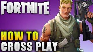 "Fortnite Guide ""How To Cross Play"" Fortnite Cross Platform Crossplay Guide thumbnail"