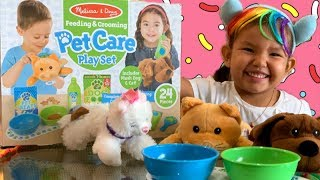 WHAT IS A PET SALON? PET CARE PLAYSET TOY FROM MELISSA AND DOUG