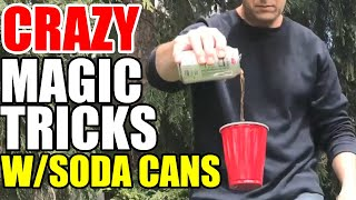 5 CRAZY tricks with a SODA CAN!