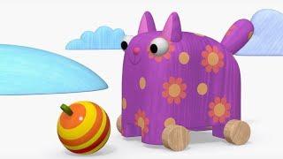 Деревяшки - Елка + Ку-ку - обучающие мультфильмы для малышей 0-4 - про новый год