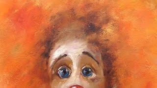 Клоуны (по работам Игоря Медведева). МК на двух холстах. Clowns. Master class on two canvases