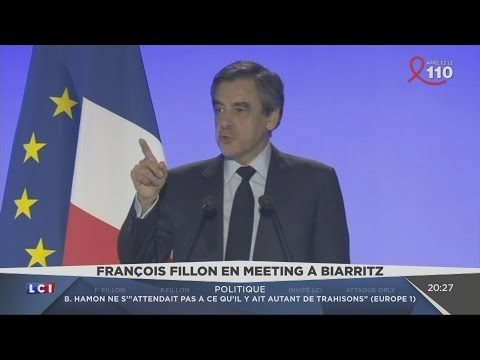Meeting de François Fillon à Biarritz (LCI, 24/03/17, 20h24)