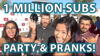 1 MILLION Subscribers YouTube Party and PRANKS!!  Twerking Contest & Magic!