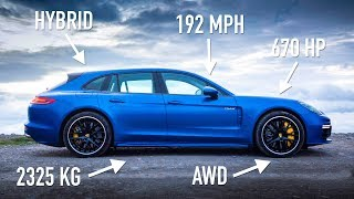 Porsche Panamera Turbo S E-Hybrid Sport Turismo: Road Review | Carfection 4k