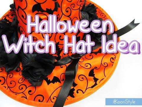 Diy Halloween Witch Hat Idea Youtube