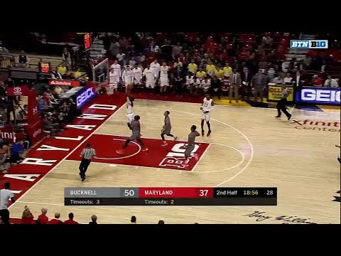 Maryland Steals and Darryl Morsell Dunks It vs. Bucknell