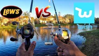 $20 Wish App Baitcaster Fishing Reel VS $150 Fishing Reel!