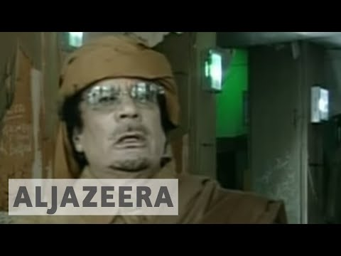 Muammar Gaddafi addresses the nation