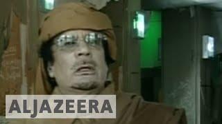 Muammar Gaddafi addresses the nation