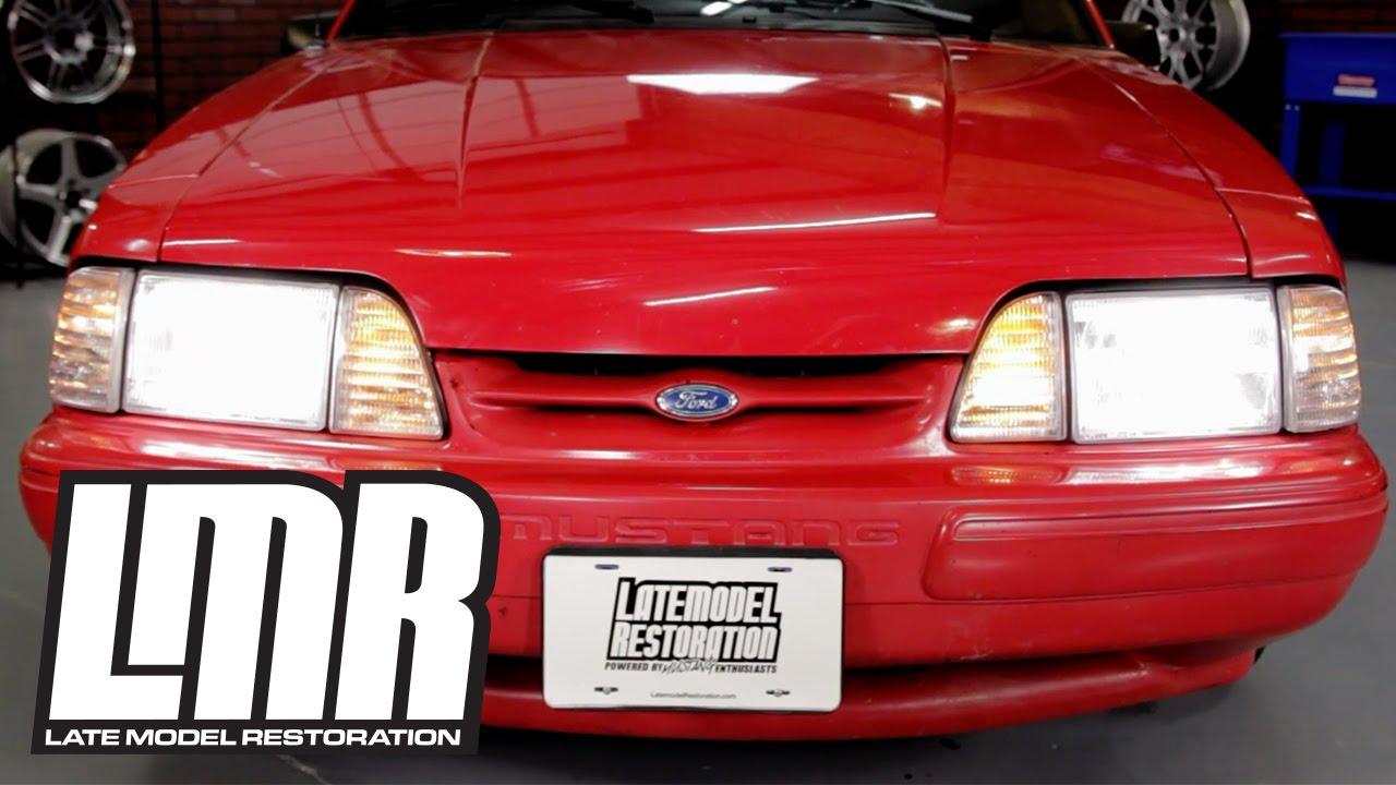 Fox Body Mustang Economy Headlight Kit Clear Amber Sidemarkers