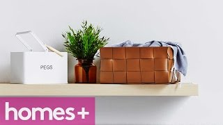 Diy Idea: Woven Leather Storage Baskets - Homes+